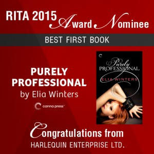 Elia Winters Best First Book RITA nomination
