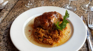 Chicken and risotto
