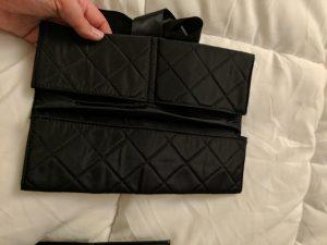 black padded storage envelope