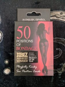 50 positions of bondage sex cards box