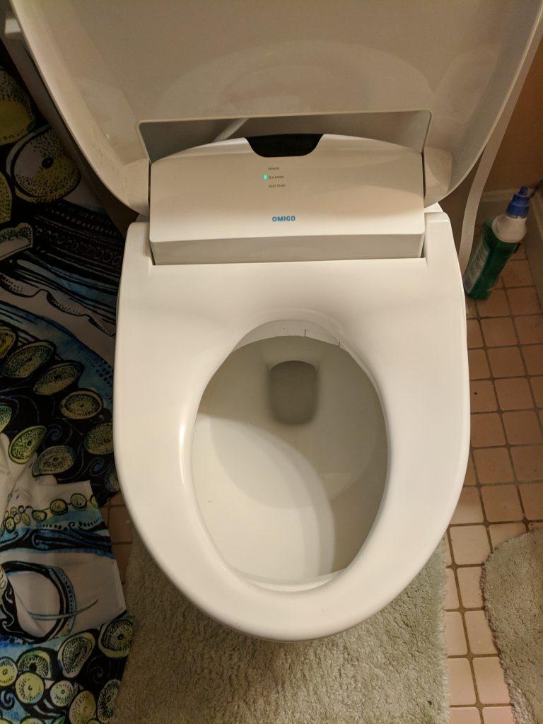 Bidet seat open