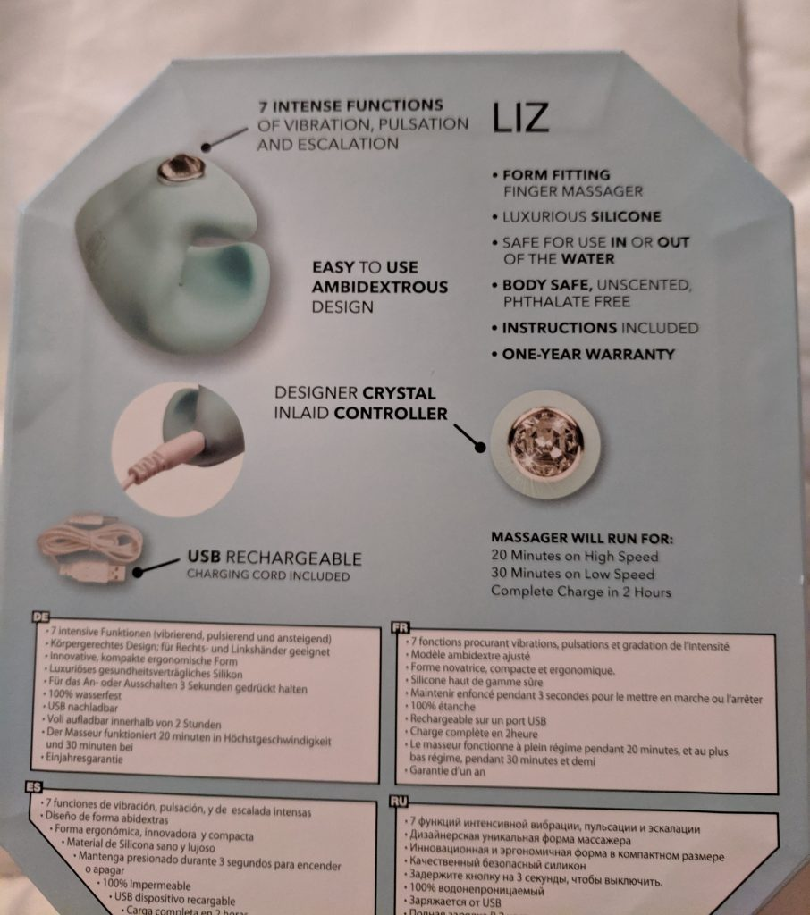 Pave Liz box from back