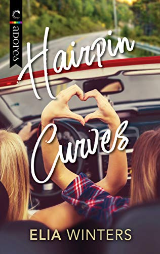 Hairpin curves cover, with two women in a car making a heart with their hands