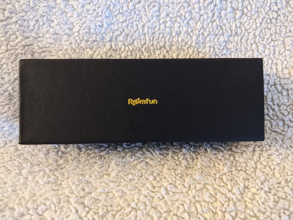 Black rectangular case for o-ring gag