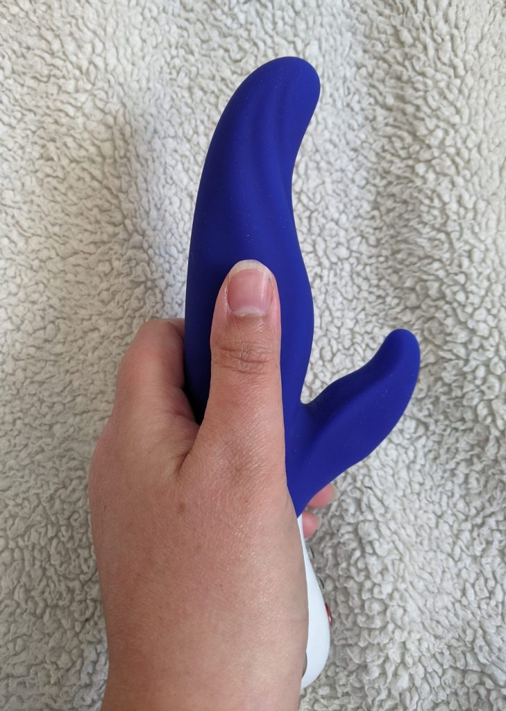 Lady bi with thumb for size comparison